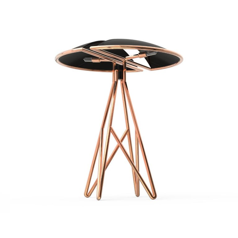 21st Century Beetle Table Lamp Brass Aluminium In New Condition For Sale In RIO TINTO, PT