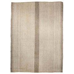 21st Century Beige and Brown Persian Kilim Wool Rug