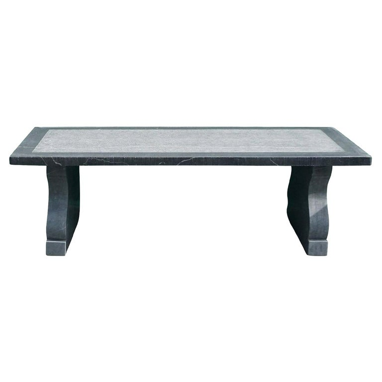 21st Century Belgian Grey Blue Stone Rectangular Dining Table For Sale