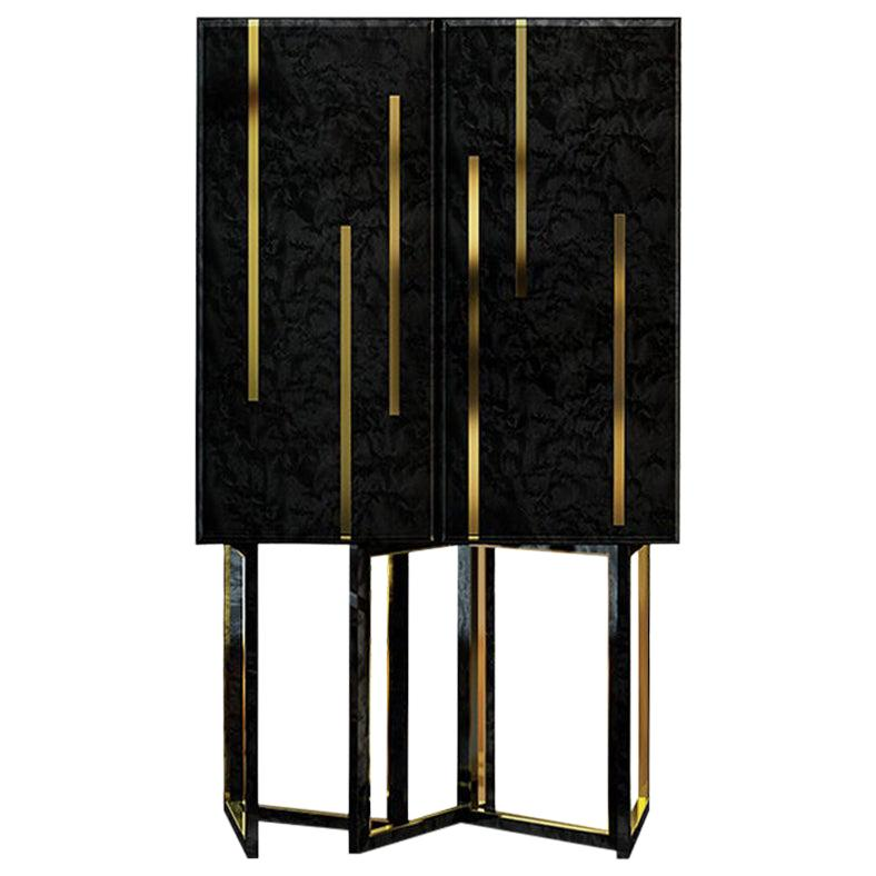21st Century Bellagio Cabinet Stained Wood