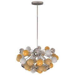 21st Century Berries Suspension Lamp Glass Nickel-Plated