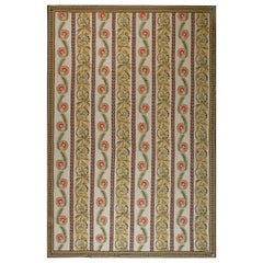 21st Century Bessarabian Floral Brown, Green, Red and White Flat-Weave Wool Rug