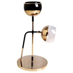 21st Century Black Widow II Table Lamp Brass Glass