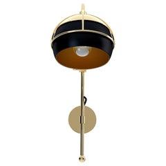 21st Century Black Widow II Wall Lamp Brass Glass