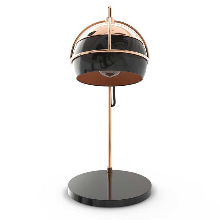 21st Century Black Widow Table Lamp Brass Glass In New Condition For Sale In RIO TINTO, PT