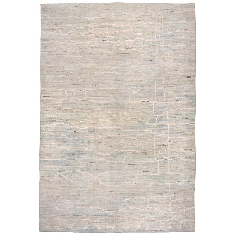 21st Century Blue Modern Moroccan Style Rug For Sale