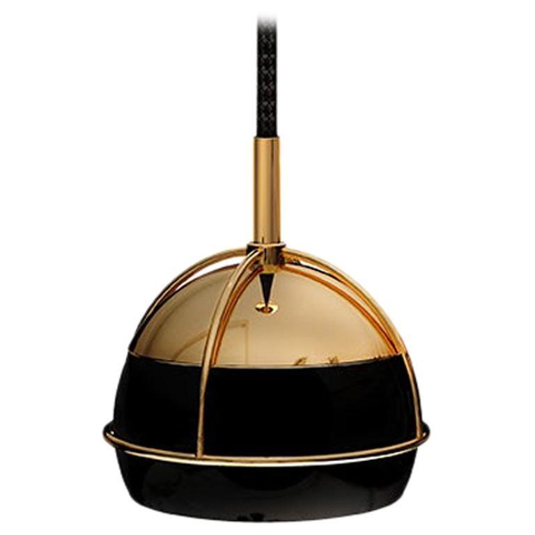 21st Century Brass Black Widow Pendant Lamp