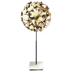 21st Century Modernist Brass Brutalist Style Butterfly Sphere Sculpture