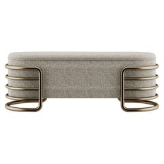 21st Century Brass Eero Bench Cotton