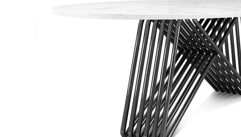 Portuguese 21st Century Broad Dining Table Marble For Sale