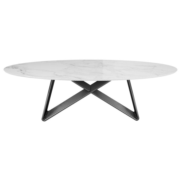21st Century Broad Dining Table Marble For Sale