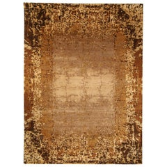 21st Century Brown and Gold Elements Rug