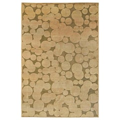 21st Century Bubble Design Rug in Light and Dark Brown by Alan Wanzenberg