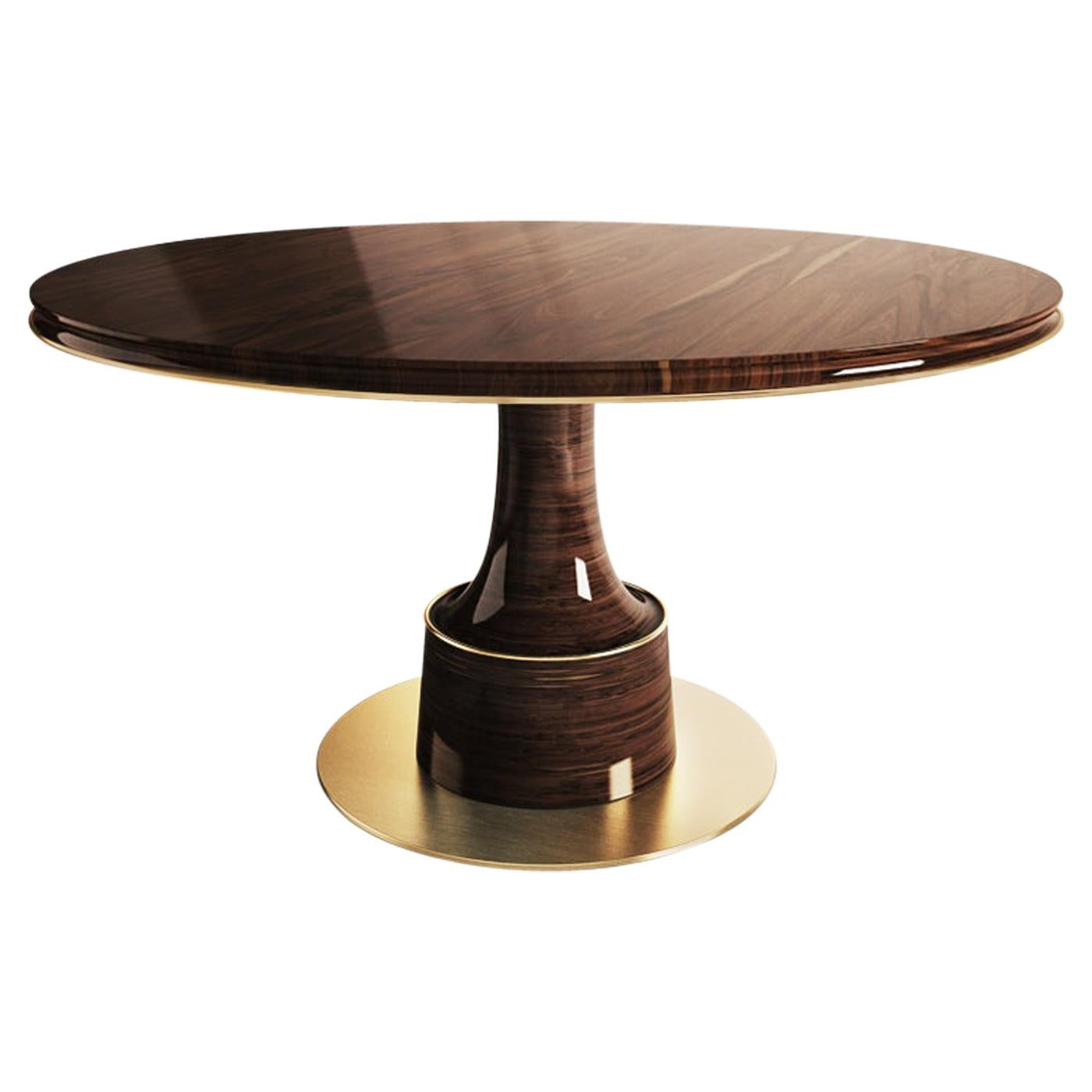 21st Century Buck Dining Table Walnut Wood