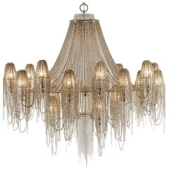21st Century Burlesque Champagne Chandelier and Crystals by Patrizia Garganti