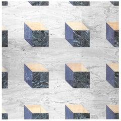 21st Century by A.Branzi Italian Polichrome Modular Marble Floor and Coating