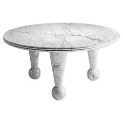 """21st Century by Arch. A.Nannetti """"TANGO"""" Round Marble Coffee Table"""