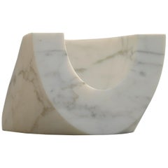 "21st Century by Arch. E. Mari ""PAROS B"" Marble Sculpture Vase Centerpiece"
