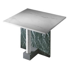 """21st Century by Arch. M.Zanini """"MESAVERDE"""" Square Marble Coffee Table"""