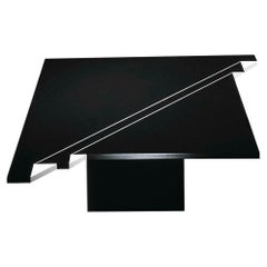 """21st Century by Arch. R.LIttel """"INTARSIA FOLD 2"""" Square Marble Coffee Table"""