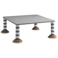 21st Century by Arch.M.De Lucchi Italian Polichrome Low Marble Table Calcutta