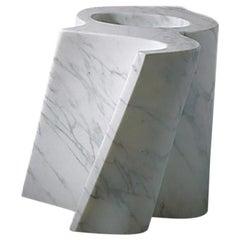 21st Century by E.Babled White Statuario Carrara Marble Sculpture Vase Garden