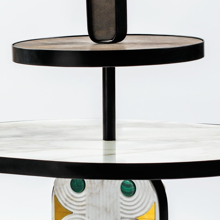 21st Century by Elena Salmistraro Coffee Table Marble White In New Condition For Sale In Patti, IT