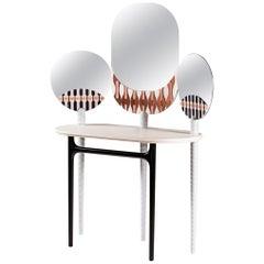 LITHEA/Teodora dressing table by Elena Salmistraro Natural stone white