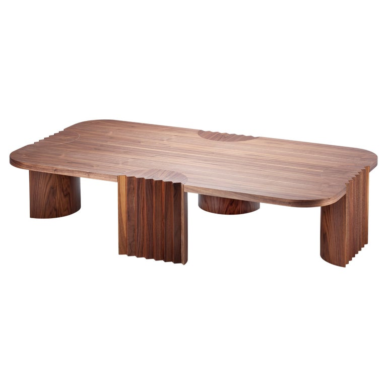 21st Century by Federico Peri Caravel Low Coffee Table Walnut For Sale