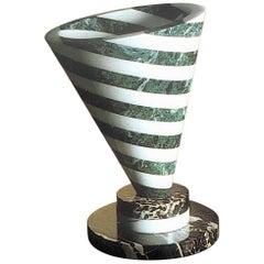 """21st Century by Martine Bedin """"Piotr"""" Marble Sculpture Vase Centerpiece"""