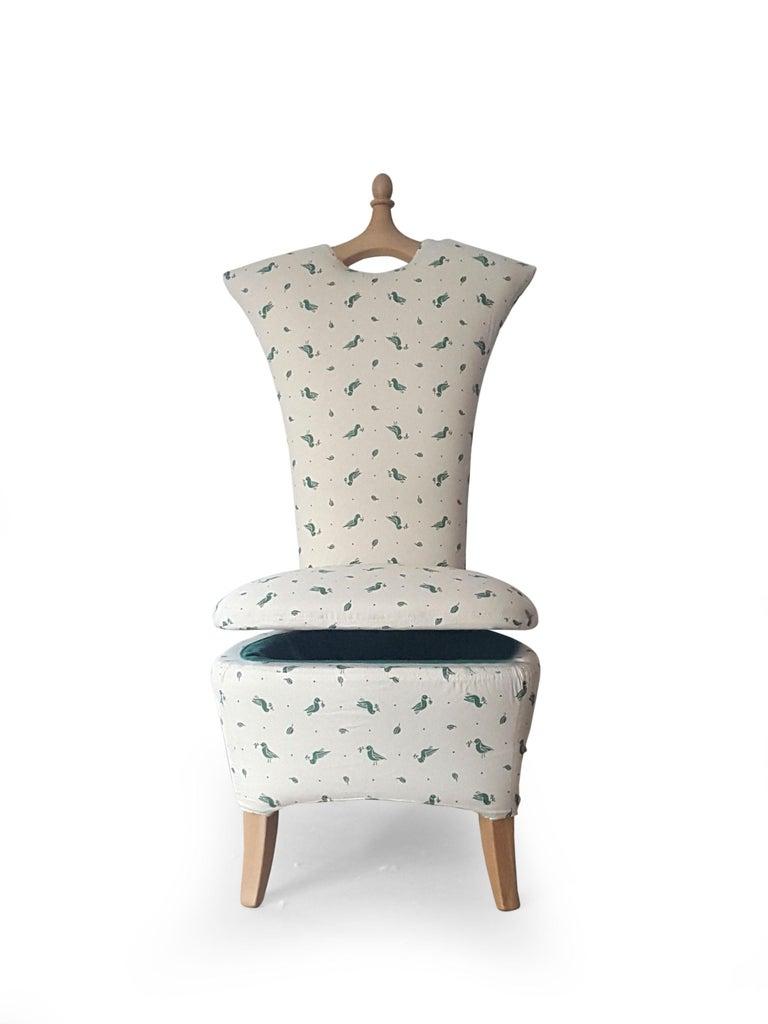 Italian Ancella Armchair project by Mauro Lovi for Giovannetti Collezioni 21st Century For Sale
