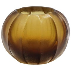 21st Century by Micheluzzi Glass Bocia Honey Vase Handmade Murano Glass