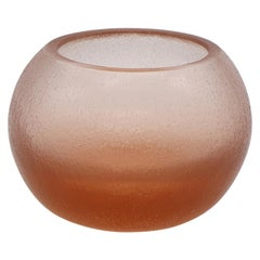 21st Century by Micheluzzi Glass Bocia Light Pink Vase Handmade Murano Glass