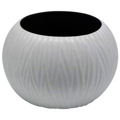 21st Century by Micheluzzi Glass Bocia White Vase Handmade Murano Glass