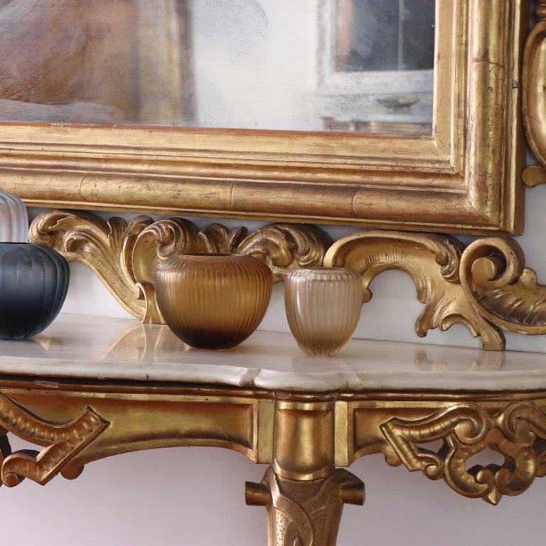 Contemporary 21st Century by Micheluzzi Glass Goccia Honey Vase Handmade Murano Glass For Sale