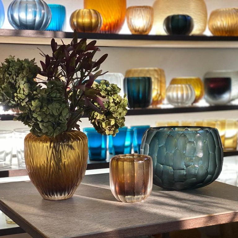 21st Century by Micheluzzi Glass Goccia Honey Vase Handmade Murano Glass 1