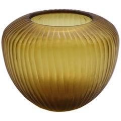 21st Century by Micheluzzi Glass Goccia Honey Vase Handmade Murano Glass