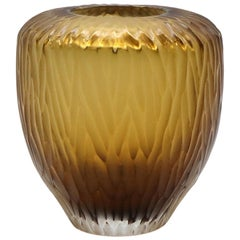 21st Century by Micheluzzi Glass Goccia Honey Vase Handmade Murano Glass