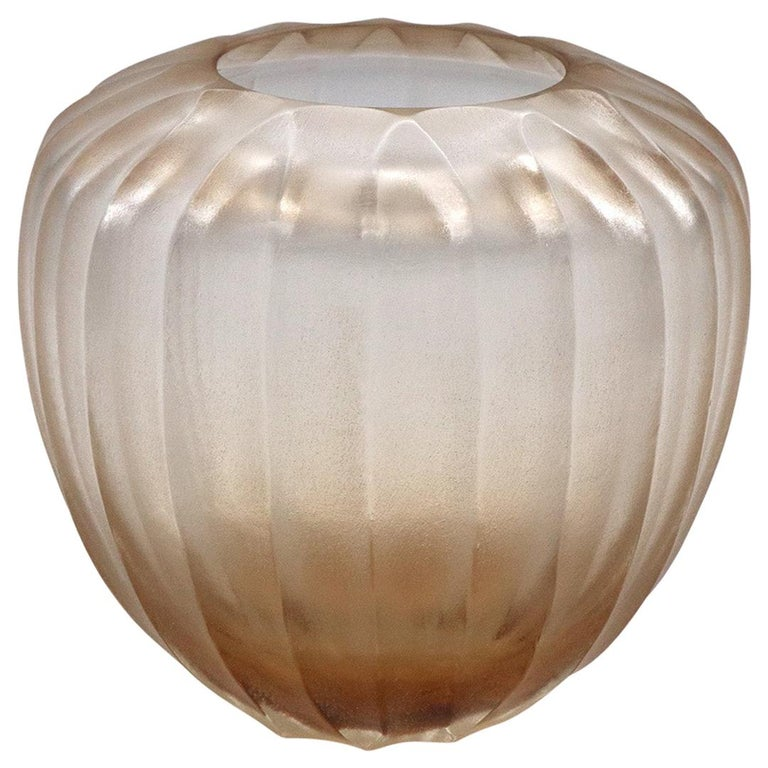 21st Century by Micheluzzi Glass Goccia Light Pink Vase Handmade Murano Glass For Sale