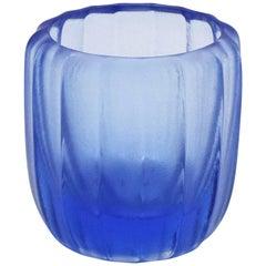 21st Century by Micheluzzi Glass Light Blue Rullo Handmade Murano Glass