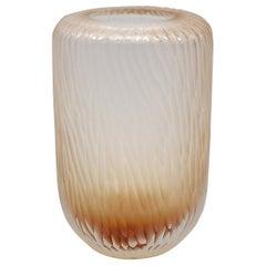 21st Century by Micheluzzi Glass Light Pink Vase Handmade Murano Glass