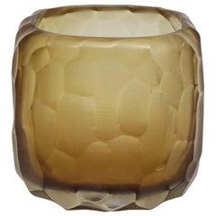 21st Century by Micheluzzi Glass Pozzo Honey Vase Handmade Murano Glass