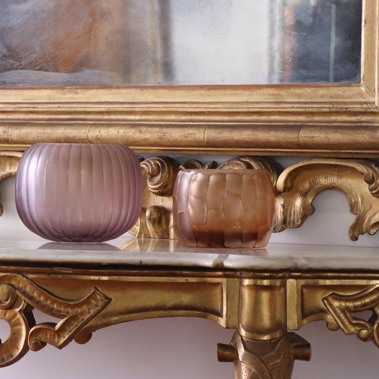Contemporary 21st Century by Micheluzzi Glass Pozzo Rose Vase Handmade Murano Glass For Sale