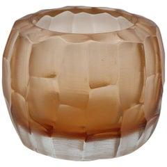 21st Century by Micheluzzi Glass Pozzo Rose Vase Handmade Murano Glass