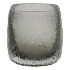 21st Century by Micheluzzi Glass Pozzo Silver Vase Handmade Murano Glass