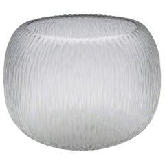 21st Century by Micheluzzi Glass Puffo Crystal Vase Handmade Murano Glass