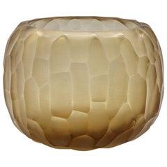 21st Century by Micheluzzi Glass Puffo Honey Vase Handmade Murano Glass