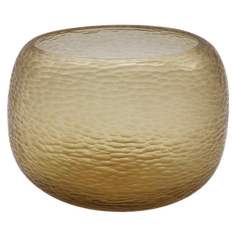 21st Century by Micheluzzi Glass Puffo Honey Vase Handmade Murano Glass For Sale