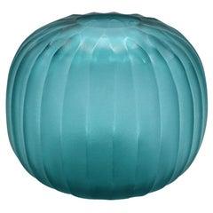 21st Century by Micheluzzi Glass Riccio Smeraldo Vase Handmade Murano Glass