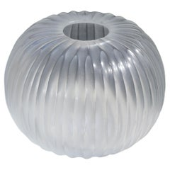 21st Century by Micheluzzi Glass Riccio Transparent Vase Handmade Murano Glass